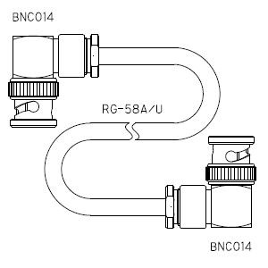 BNC014-ケーブル仕上全長-RG58AU