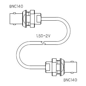BNC140-ケーブル仕上全長-1.5D-2V