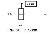 L型インピーダンス変換